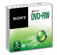 5 X 4.7GB DVD+RW - SLIM CASE