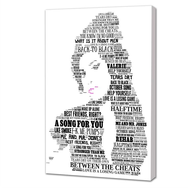 Lyric mr jones lyrics : Amy Winehouse Song Lyrics Black & White Canvas - Digital Distribution