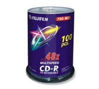 Fuji CD-R X100 700MB 52-Speed Spindle