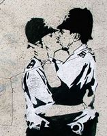 Kissing Policeman