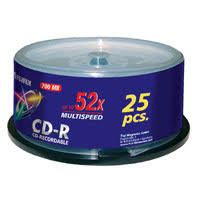 Fuji CD-R X25 700MB 52-Speed Spindle