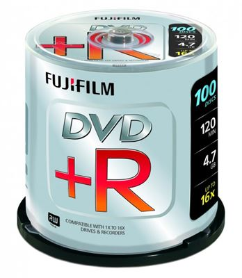 Fuji DVD+R X100 Spindle (4.7GB 16X)